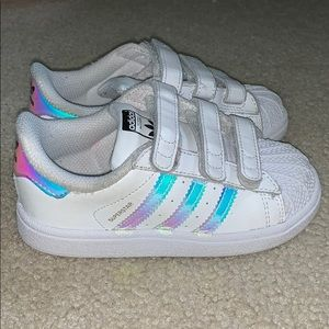 Adidas Superstar Iridescent Sneakers Toddler Sz 9